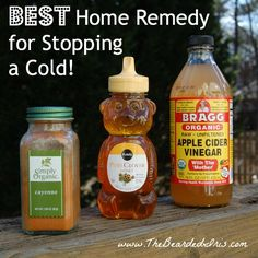 Best home remedy for stopping a cold. My throat feels a bit better now!