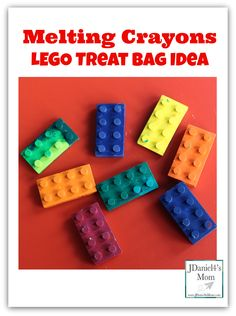 Melting Crayons- LEGO Treat Bag Idea