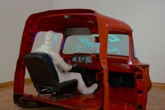 George Segal American, The Truck, 1966 Line Sculpture, George Segal, Pop Art Movement, Art Institute Of Chicago, Shades Of Red, Installation Art, Baby Car Seats, Trucks, Children