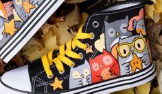 ed98429959b4 Owl Star Chucks Painted Sneakers