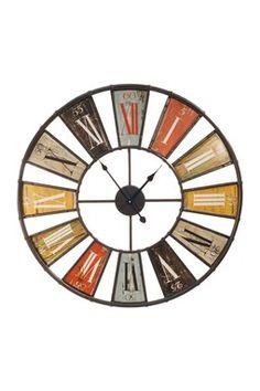 """Multicolor 23"""" Framed Wall Clock"""