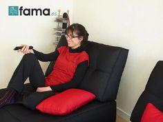 Mes sofas FAMA et moi, en Rouge et Noir