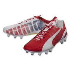 best loved bfd09 69262 Sale PUMA evoSpeed 1.3 FG Men s Soccer Cleats-White High Risk Red Empire  Yellow