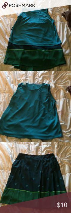 Women's skirt and top set Blue and green skirt set Pierre Cardin Skirts Skirt Sets