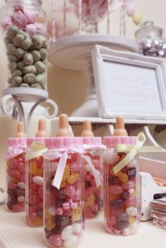 pink & yellow baby girl shower Baby Shower Party Ideas | Photo 5 of 26 | Catch My Party