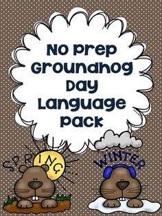 SALE!  This Groundhog's Day activity includes the following worksheets: listening comprehension/vocabulary, antonyms, synonyms, regular past tense verbs, irregular past tense verbs, regular plural nouns, irregular plural nouns, describing with attributes, comparing and contrasting, and making predictions!