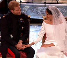 A tender moment between Prince Harry and Meghan during their wedding