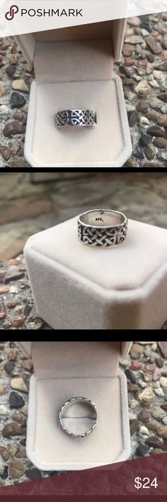 New Sterling silver Celtic knot cross ring New  Solid Sterling 9.25  Celtic knot ring size 6   I'm moving so I'm selling my things at a great deal. I've way too much jewelry I've never worn. This is totally cool ring I'm sure someone will love. Jewelry Rings