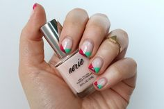 Pink & Sea Foam Geometric Nails | #LivingAfterMidnite