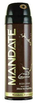 mandate deodorant  | Universal Toiletries | Body Sprays