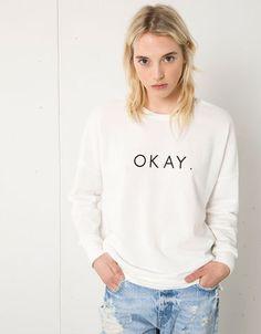 Bershka United Arab Emirates - Bershka oversize text sweatshirt