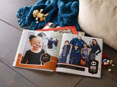 Capture the Halloween memories in a photo book. Reserve a page just for your creative costumes.