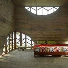Check out this bedroom and that gorgeous fabric... This room is part of an amazing Resort being built in Vanuatu, not far from our Villa at Eton Reef. Go to   http://knstrct.com/2013/09/19/la-plage-dhotel-du-pacifique-vanuatu/  to see more