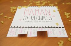 Mother's Day: 10 homemade gift ideas for mom! Diy Back To School, Fathers Day Crafts, Mother And Father, Paper Cards, Happy Mothers, Diy Crafts For Kids, Homemade Gifts, Place Card Holders, Petite Section