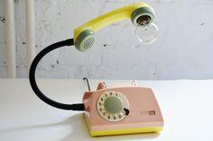 teleLAMPAfon ~ Lampa z telefonu ~ VINTAGE DESIGN - RefreszDizajn - Lampy stołowe