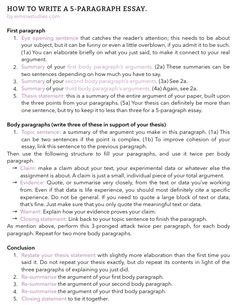 Emma's Studyblr essay writing tips paragraph school student help body intro conclusion