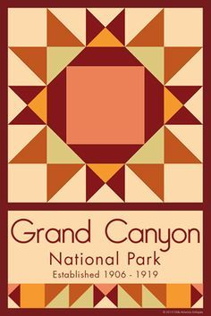 Grand Canyon National Park Quilt Block designed by Susan Davis. Susan is the owner of Olde America Antiques and American Quilt Blocks She has created unique quilt block designs to celebrate the National Park Service Centennial in 2016. These are the first quilt blocks designed specifically for America's national parks and are new to the quilting hobby. http://OldeAmericaAntiques.com and http://AmericanQuiltBlocks.com