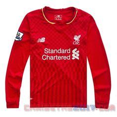 Camiseta manga larga Liverpool 2015 2016 primera