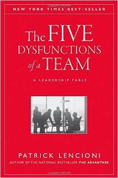 The Five Dysfunctions of a Team: A Leadership Fable   ---   http://www.amazon.com/gp/product/0787960756/ref=pe_1803330_138665470_pe_epc__1p_0_ti