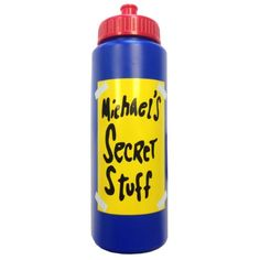 Michael's Secret Stuff Water Bottle Space Jam Michael Jordan Tune Squad 90's