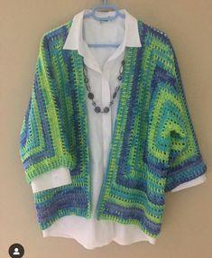 Brunch Cardigan Crochet pattern by Jess Coppom Make & Do Crew Crochet Cardigan Pattern, Crochet Jacket, Crochet Blouse, Crochet Shawl, Crochet Patterns, Pull Crochet, Crochet Granny, Easy Crochet, Knit Crochet