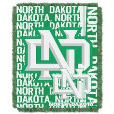 North Dakota Fighting Sioux NCAA Triple Woven Jacquard Throw (Double Play Series) (48x60)