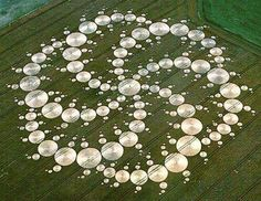 This crop circle noticed on Milk Hill in Wiltshire (Southern England) on August 13, 2001 is being hailed as the most awesome ever made. It is composed of 409 individual circles in a spiral pattern. Appropriately, it was found in the heart of crop circle country in the United Kingdom.