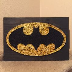 MADE TO ORDER - Batman String Art Sign by StringsbySamantha on Etsy https://www.etsy.com/listing/208312424/made-to-order-batman-string-art-sign