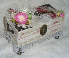 TPHH-Shabby-Altered-Chipboard-Keepsake-Gift-Box-with-Prima-Flowers