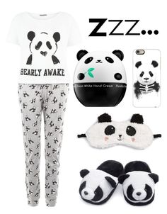 """Panda PJs"" by lexi-the-fashion-queen on Polyvore featuring P.J. Salvage, Tony Moly and Casetify"
