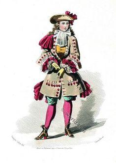 Louis XIV. 17th century costume