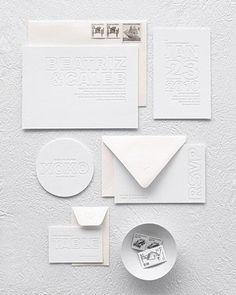 White Wedding Invitations #weddinginvitation