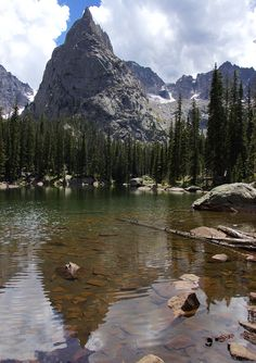 Warm enough for a dip with a view in Mirror Lake in the Colorado Rockies - Imgur