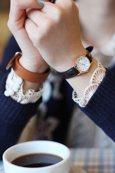 i just realized how to salvage sweaters whose sleeves I've shrunk....lace cuffs. YES. must, must. For latest fashion clothes visit us @ http://www.zoeslifestylefashion.com/clothing/