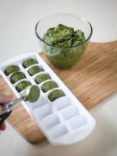 A quick and easy tutorial on freezing pesto to make your herbal harvest last