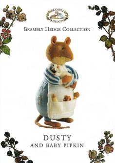 Brambly Hedge Collection - Dusty and Baby Pipkin (Alan Dart Design) Crochet Quilt, Crochet Toys, Knit Crochet, Amigurumi Patterns, Knitting Patterns, Crochet Patterns, Brambly Hedge, Baby Hats Knitting, Knitting Toys