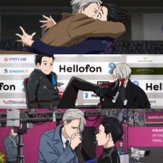 """✨EP 7 → EP 8 → EP 11✨.... Viktor """"I only kiss gold"""" Nikiforov my ass. You kiss anything and everything Yuuri"""