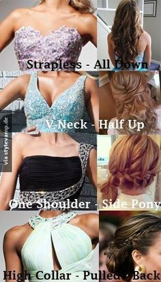 .Z LaRue Tip: The cut of the dress determines your Hairstyle.: