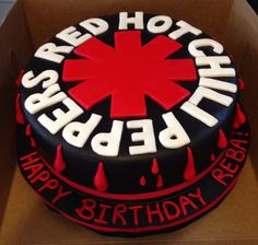 Red hot chili peppers cake for birthday!