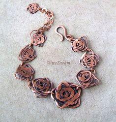 Handmade copper necklace