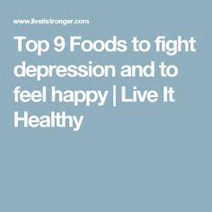 best food to fight depression