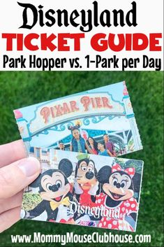 The Difference Between Disneyland Tickets (Park Hopper vs. per Day Tickets) - The Mommy Mouse Clubhouse Disneyland Crowd Calendar, Discount Disneyland Tickets, Best Disneyland Food, Hotels Near Disneyland, Disney Tickets, Disneyland Secrets, Disney Dining Tips, Disney On A Budget, Disney World Planning