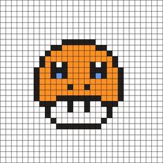 Charmander Pixel Art Template Beading on Pinterest  ...