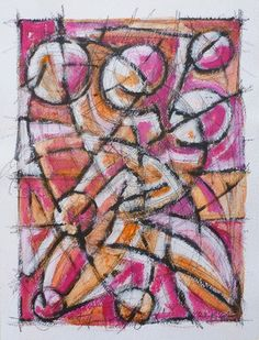 (S)composizione - acrilico su carta, 41 x 31 - 23 agosto 2016 http://www.meriggi.it/ #stefanomeriggi #meriggi