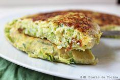 Tortilla de zapallo italiano Vegan Vegetarian, Vegetarian Recipes, Healthy Recipes, Gluten Free Recipes, Hummus, Baked Potato, Free Food, Nom Nom, Dinner