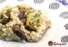 Receta de risotto con alcachofas