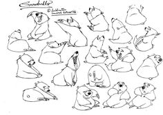 Big Thanks Randall Sly , editor of Character Design , for sending me these Balto model sheets (L) © Universal Pictures © Amblin Entertainm...