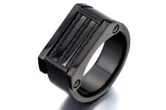 Mens Black Ring/Black Mens Ring/Anniversary Gift for Boyfriend/Unique Mens  Rings/Stainless Steel Ring Jewelry