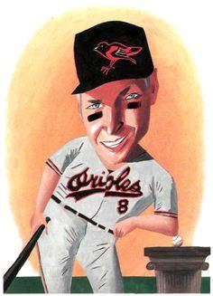 Cal Ripken Jr. illustration by mark Ulriksen, 1995.