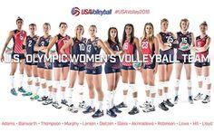 USA Olympic women's volleyball team 2016 Rio GO USA !